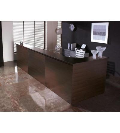 Mueble de recepción color haya, wengue, blanco, etc.