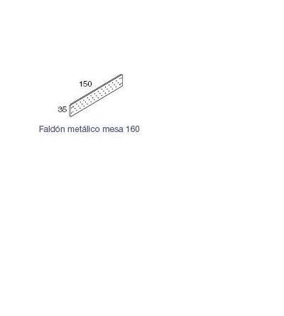 faldón metalico para mesa Exe de 150*35