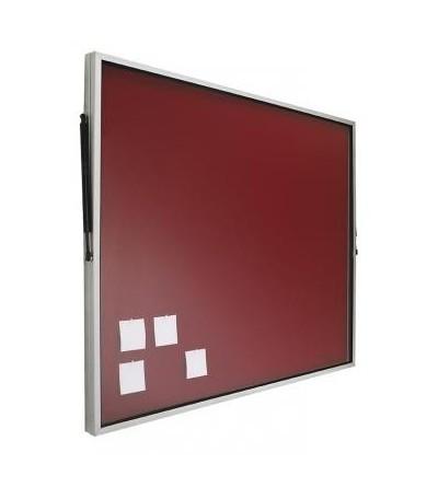 Vitrina de anuncios con puerta abatible - tapizada