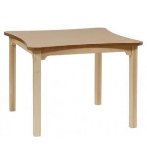 Mesa madera geriátrico 75 cm. de alto