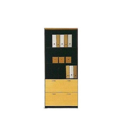 Armario alto doble archivo con estantes 196*80*40