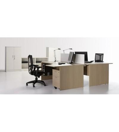 Mesa de oficina compacta 160*120*(80*60)*74